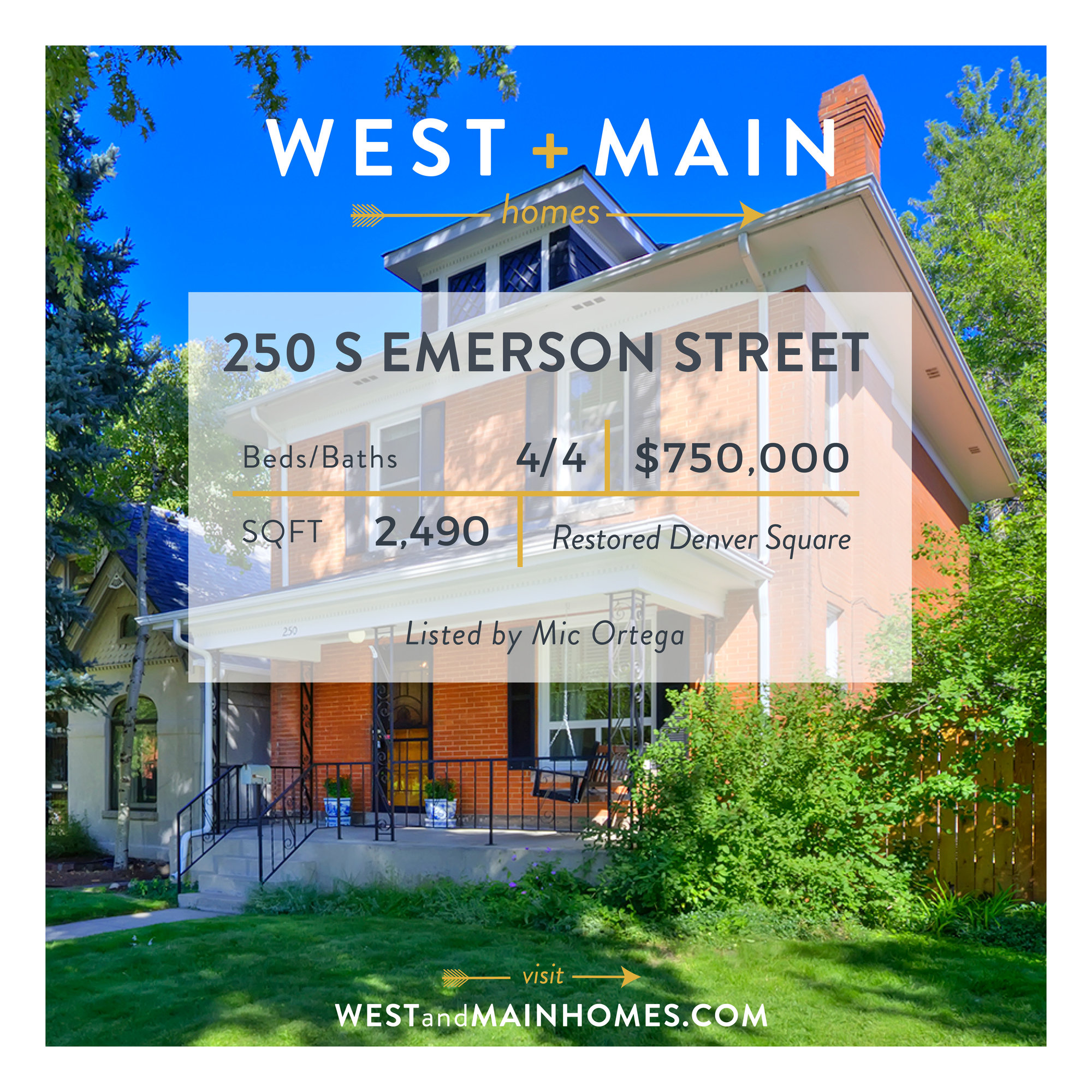 Dreamy West Wash Park Denver Square For Sale Listed By